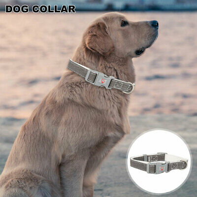 Strong Personalised Dog Puppy Collar Tag Finest Quality Leather Three Sizes Grey