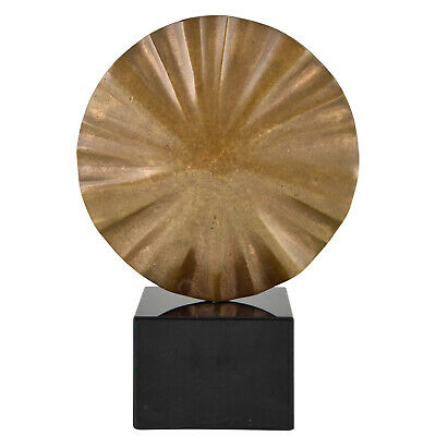 Mid Century abstract bronze sculpture Claudio Capotondi 1979 signed
