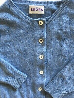 Girls Brora Cashmere Cardigan Age 3-4 Conflower Blue Ex Cond Selling Others