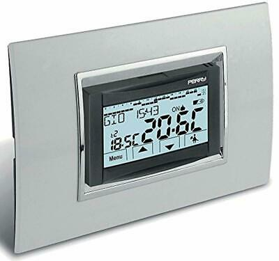 """PERRY CRONOTERMOSTATO AD INCASSO A MENU' 230V serie """"MOON"""" TOUCH SCREEN 1CR"""
