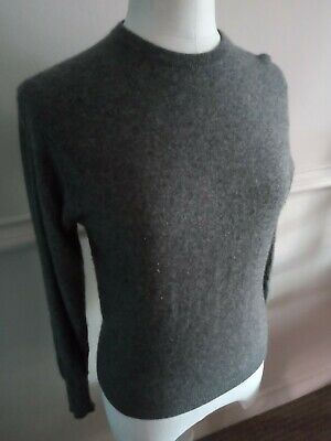Vintage Womens Lyle And Scott Scottish Grey Cashmere Jumper Size Small