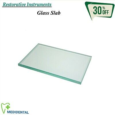 RESTORATIVE Laboratory Glass Slab Mixing Board / Plate Dentistry Composite Tools