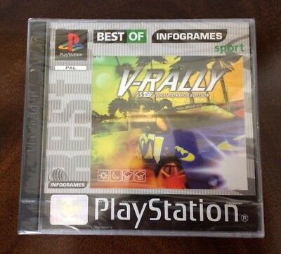 ***NEW & FACTORY SEALED*** V-RALLY. Playstation, PS1. Unopened Game. Rare.
