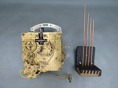 Vintage Smiths clock movement with floating balance & chimes - repair or spares