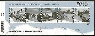 GB 2019 Autumn Stampex D-DAY Mini Sheet OVERPRINT Limited Edition of 7500 U/M