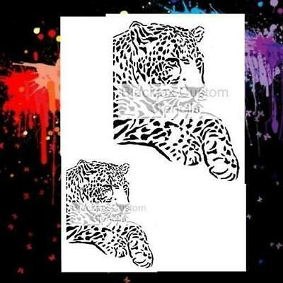 Layng Leopard Set  Airbrush Stencil,Camouflage