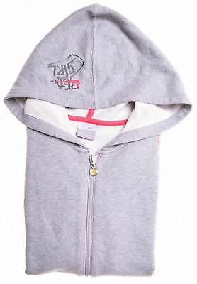 NIKE Girls Hoodie Sweater 12-13 Years Large Grey Cotton  BF15