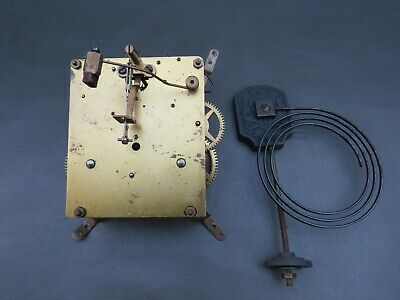 Vintage Haller mantel clock movement and gong for repair or spares