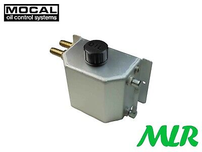 Mocal 1 Litre Alloy Catch Tank / Engine Breather Tank Left Or Right Inlets Bvc/K