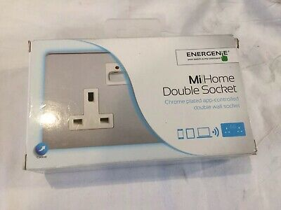 NEW! Energenie Home Automation Mi|Home Smart Double Chrome Socket