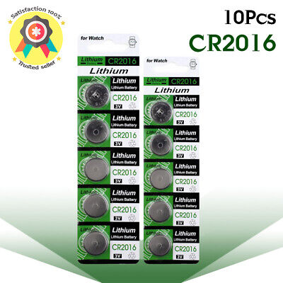 Lot of 10 PC ENERGIZER CR2016 WATCH BATTERIES 3V LITHIUM CR 2016