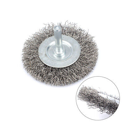 """5Pc 3"""" 75mm Stainless Steel Wire Brush Polishing Wheel For Derusting Rotary Tool"""