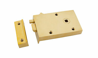 From The Anvil Polished Brass Right Hand Bathroom Latch