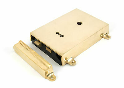 From The Anvil Polished Brass Rim Lock & Cover