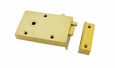 From The Anvil Polished Brass Left Hand Bathroom Latch
