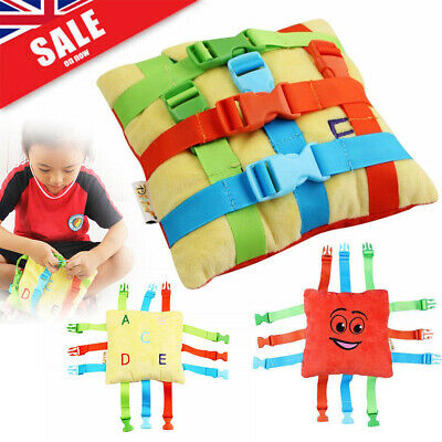 BUCKLE TOY Toddler Early Learning Basic Life Skills Children Kid Plush Toy HOT!