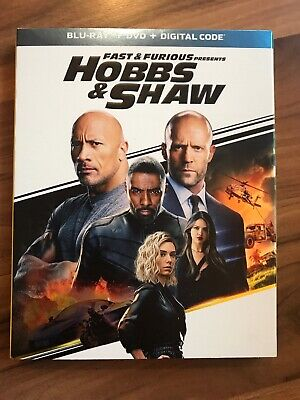 Fast & Furious Presents Hobbs & Shaw Blu-ray, DVD, Digital,Slipcover NEW
