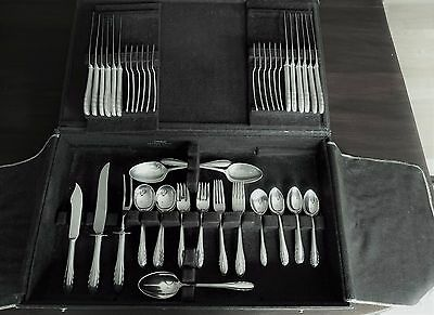 Lyric By Gorham Sterling Silver Flatware Service For 12 Set - 85 Pieces