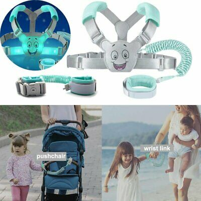 Child Kids Backpack Leash Harness Toddler Anti Lost Wrist Link Cuff with Lock US