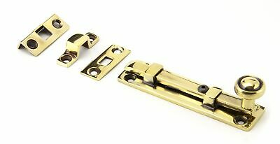 """From The Anvil Aged Brass 4"""" Universal Bolt"""
