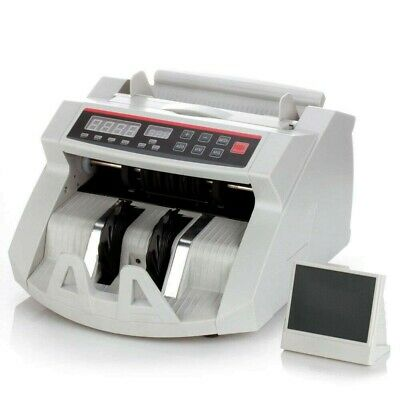 New Currency Money Bill Counter Cash Counting Machine Counterfeit UV MG Detector