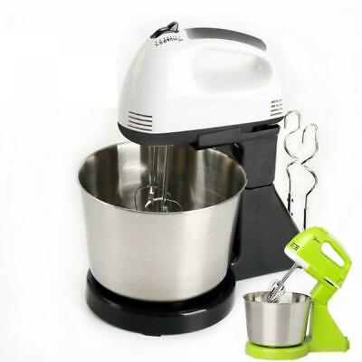 7 Speed Electric Food Stand Hand Mixer 2L Cake Dough Hook Bowl Whisk L7I6C