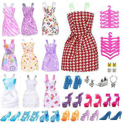 50X Items For Barbie Doll Dresses, Shoes, Jewellery Clothes Set Accessories