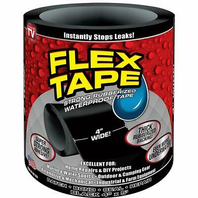 "Flex Tape Patch Bond Super Strong Rubberized Waterproof Seal Repair Tape (4""X5')"