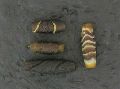 Ancient Glass Beads. 200 BC - 100 AD Hellenistic Period Banded Mosaic Beads H2