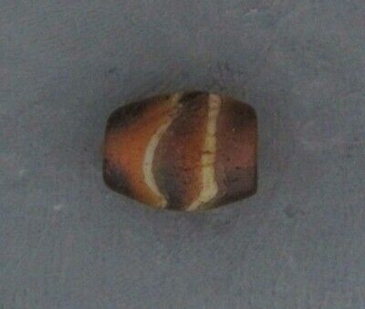 Ancient Glass Beads. 200 BC - 100 AD Hellenistic Period Banded Mosaic Bead H12