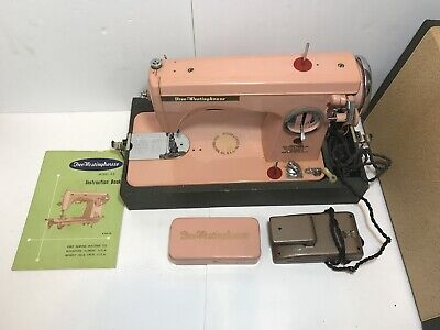 Vintage Free Westinghouse PINK Sewing Machine Model S II / S 2  W/ Case Untested