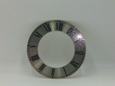 "New Clock Chapter Ring Dial Face Silver Black Roman Numerals 8"" Chime Silent"