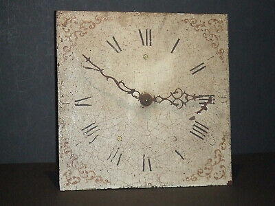 "Antique 30 Hour Longcase Clock Movement & 12"" Painted Dial, Hands & Bell"