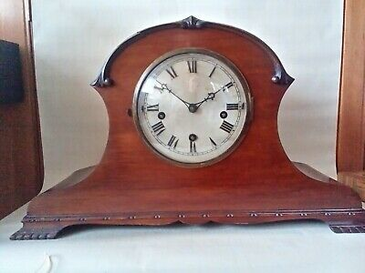 Impressive Antique Pre WW2 Large Napoleon Hat Chiming Mantel Shelf Clock by LG