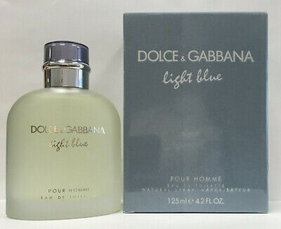 Dolce & Gabbana Light Blue Eau De Toilette 4.2 oz / 125 ml For Men NEW
