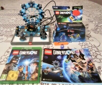Lego Dimensions Starter Pack - X Box One + New Benny & Spaceship Fun Pack.