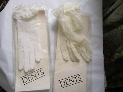 2 Pairs of  DENTS GLOVES   ONE PAIR NEW   BOTH PAIRS STILL IN PACKET  OLD