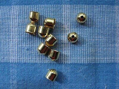 Inside Hole 3.5mm 48 Silver Plated Brass Cord End Cap 4x8x4mm