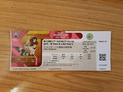Official 2019 Rugby World Cup Quarter Final Ticket Wales v France - Game 43