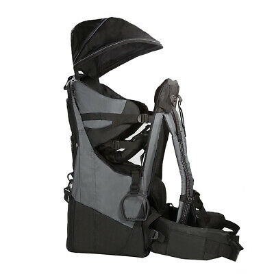 ClevrPlus Deluxe Baby Carrier Outdoor Light Hiking Child Backpack Camping, Grey