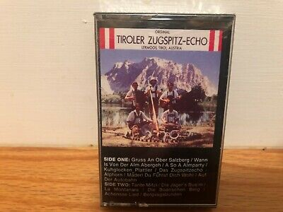 Tiroler Zugspitz Echo Folklore Songs From Tirol Cassette Factory Sealed