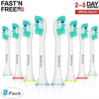 8Pcs Electric Toothbrush Replacement Brush Heads Set Fit For Philips Sonicare HX