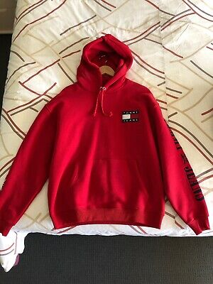 Red Tommy Hilfiger Hoodie Size L
