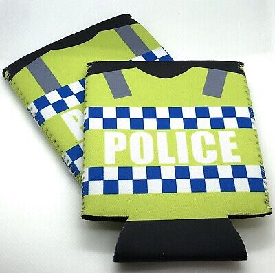 Police Stubby Holder, Can & Bottle Holder, Hi Vis, Police, 1 x holder