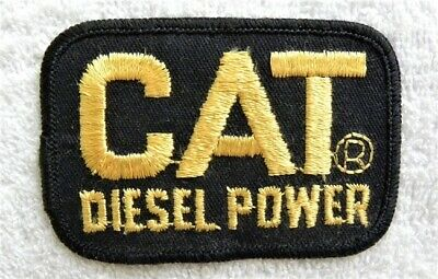 2 Cat Embroidered Patch Safety Award KK Plant Caterpillar Tractor Set of 2