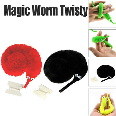 Twisty Trick Toys Plush Magic Worm Fuzzy Cute Magic Worm Kid Trick Toy Red/Green