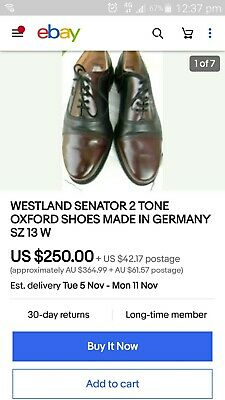 Westland kings-road shoes made In Germany
