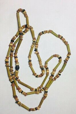 Ancient Egyptian Faience Bead Necklace Artifact Late Dynasty 33rd 600-300 BCE
