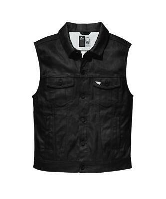 NEW Saint Moto Denim Vest - Black from Moto Heaven