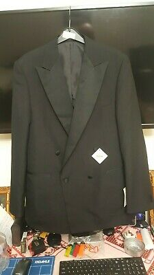 Mens Dinner Jacket Black Size 38 R TO 48 R Double Breasted Suit Magee Tuxedo